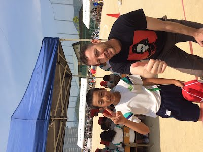 owen and a-ok english student at sports festival